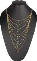 Z Retails Stars Necklace Yellow Gold Plated Brass Necklace