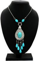 Gold & More Turquoise Beads Alloy Necklace