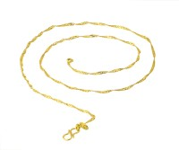 Voylla Smooth Finish 18K Yellow Gold Alloy Chain