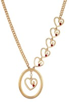 Crunchy Fashion Love Is In The Air Rose Gold Plated Brass Necklace