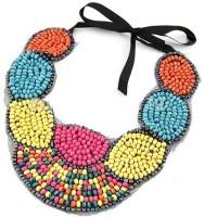 Crunchy Fashion MultiColor Beards Collar Alloy Necklace