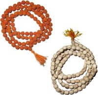 11Girls 100% Original Nepal Rudraksha Mala With 108 Beads In 6 Mm Size With Tulsi Mala Combo Of 2 Wood Necklace Set