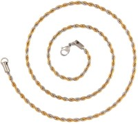 The Jewelbox Classic Rope Rhodium Plated Stainless Steel Chain