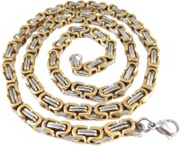 Ammvi Creations 21.5'' 3D Byzantine Two-Tone Tough & Durable 316L For Men Stainless Steel Chain