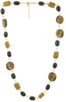 Fashionite Multi, Glass Beaded Metal Necklace