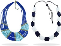 Beadworks Alloy, Glass, Resin Necklace Set