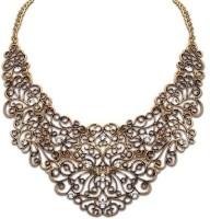 Crunchy Fashion Golden Mess Short Alloy Necklace