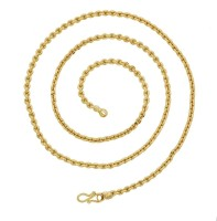 The Jewelbox Rugged Anchor Yellow Gold Plated Brass Chain