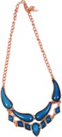 Trinklets Chic Blue Metal, Acrylic Necklace