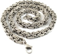 Ammvi Creations 3d Thick 316l Stainless Steel Byzantine Necklace For Men Brass Chain