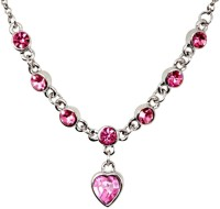 Crunchy Fashion Pink Crystals Party Alloy Necklace