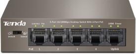 Tenda 5-Port 10/100 Mbps Desktop Switch with 4-Port POE Network Switch