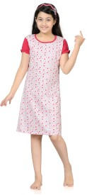 Kombee Girl's Night Dress