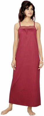 Myra Myra Women's Night Dress (Maroon)