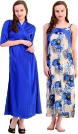 Claura Women's Nighty with Robe