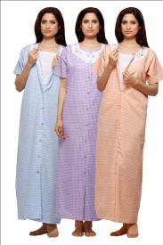 VedVid Women's Nighty