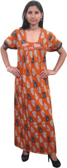 Indiatrendzs Women's Nighty: Night Dress Nighty