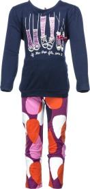 Pepito Girl's Printed Top & Pyjama Set