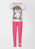Barbie Girl's Printed Top and Pant