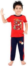 Punkster Baby Boy's Solid Top & Pyjama Set