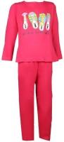 Jazzup Girl's Printed Top & Pyjama Set