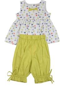 Aomi Girl's Printed Top & Pyjama Set