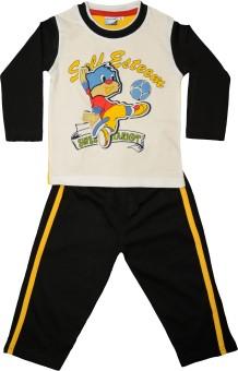 Myfaa Baby Boy's Printed Top & Pyjama Set - NSTE4BHTUGCHXDWF