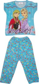 Camey Girl's Printed Top & Pyjama Set