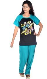 Rosabela Women's Printed Top & Pyjama Set