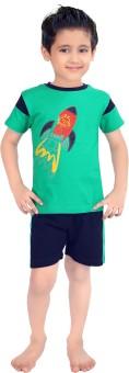 Punkster Baby Boy's Graphic Print Top & Shorts Set - NSTE645PSBMTPCSM