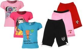Gkidz Girl's Printed Top & Shorts Set