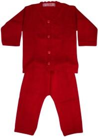 Flowers Premium Baby Girl's Embroidered Top & Pyjama Set