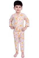 Kingstar Baby Boy's Printed Yellow Top & Pyjama Set