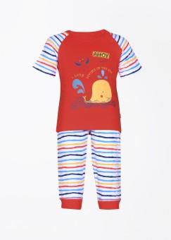 FS Mini Klub Baby Boy's Printed Top & Pyjama Set