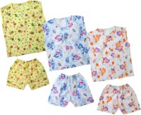 Kids Rock Cute Printed Boys Top & Shorts Set /3 Baby Boy's Printed Top & Shorts Set