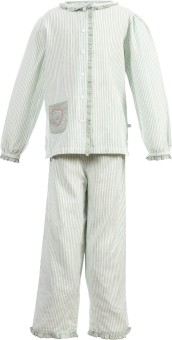 Shopper Tree Night Suit Girl's Striped Top & Pyjama Set