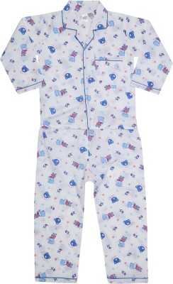 KingStar-Boys-Printed-Blue-Top-&-Pyjama-Set