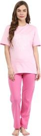 Rose Vanessa Women's Printed Top & Pyjama Set