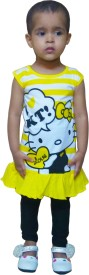 Instyle Girl's Self Design Top & Pyjama Set