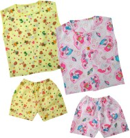 Kids Rock Cute Printed Boys Top & Shorts Set /2 Baby Boy's Printed Top & Shorts Set