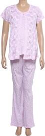 Uzazi Nursing Women's Floral Print Top & Pyjama Set