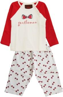 My Little Lambs Baby Boy's Printed Top & Pyjama Set