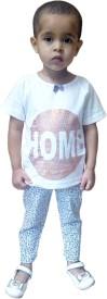 Instyle Girl's Printed Top & Pyjama Set