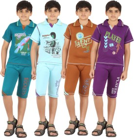 Zippy Boy's Printed Multicolor T-shirt & Three-forth Set - NSTEGWVBHFZFVJVY