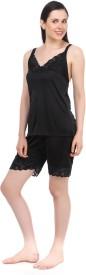 Fasense Women's Solid Top & Shorts Set