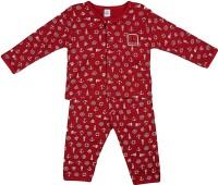 Toffy House Stylish Charm Baby Girl's, Baby Boy's Printed Top & Pyjama Set