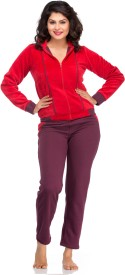 Private Lives Women's Solid Top & Pyjama Set