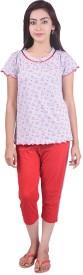 Limeberry Women's Printed Top & Pyjama Set