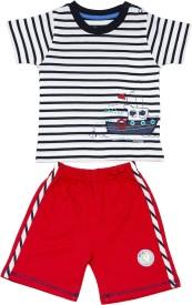 Pepito Baby Boy's Striped Top & Shorts Set