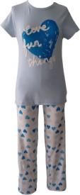 Sweet Dreams Girl's Graphic Print Top & Pyjama Set